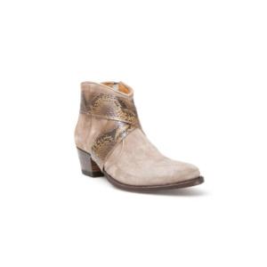 Compra en Noel Western Boots estos Botines Sendra Campera para mujer de serraje gris con cinta de piel de serpiente modelo 13266 con envíos gratis a la península clave 50371