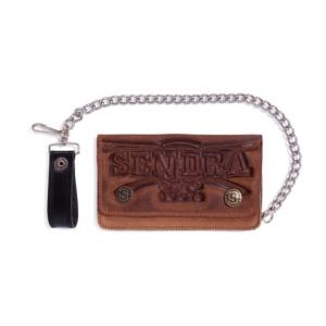 Compra en Noel Western Boots esta cartera Sendra Western en piel marrón modelo Emboss Old Cuoio con envíos gratis a la península 50756