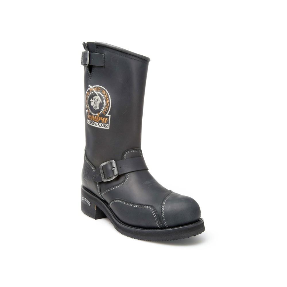 Compra en Noel Western Boots estas Botas Sendra Biker para hombre de cuero negro con hebilla y bordado modelo 3565 con envíos gratis a la península 5116 -