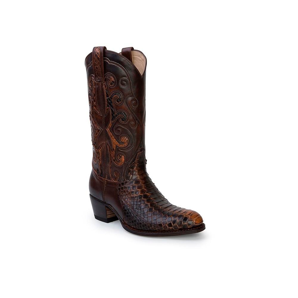 Compra en Noel Western Boots estas Botas Sendra Western para mujer de piel de serpiente marrón modelo 13708 con envíos gratis a la península clave 52645 -