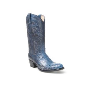 Compra en Noel Western Boots estas Botas Sendra Western para mujer de piel de serpiente azul modelo 13708 con envíos gratis a la península clave 52646
