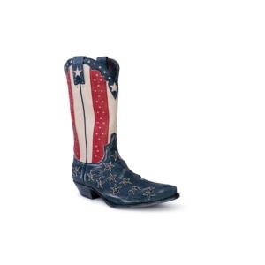 Compra en Noel Western Boots estas Botas Sendra Western para hombre de cuero azul, rojo y blanco modelo 10695 con envíos gratis a la península clave 52648