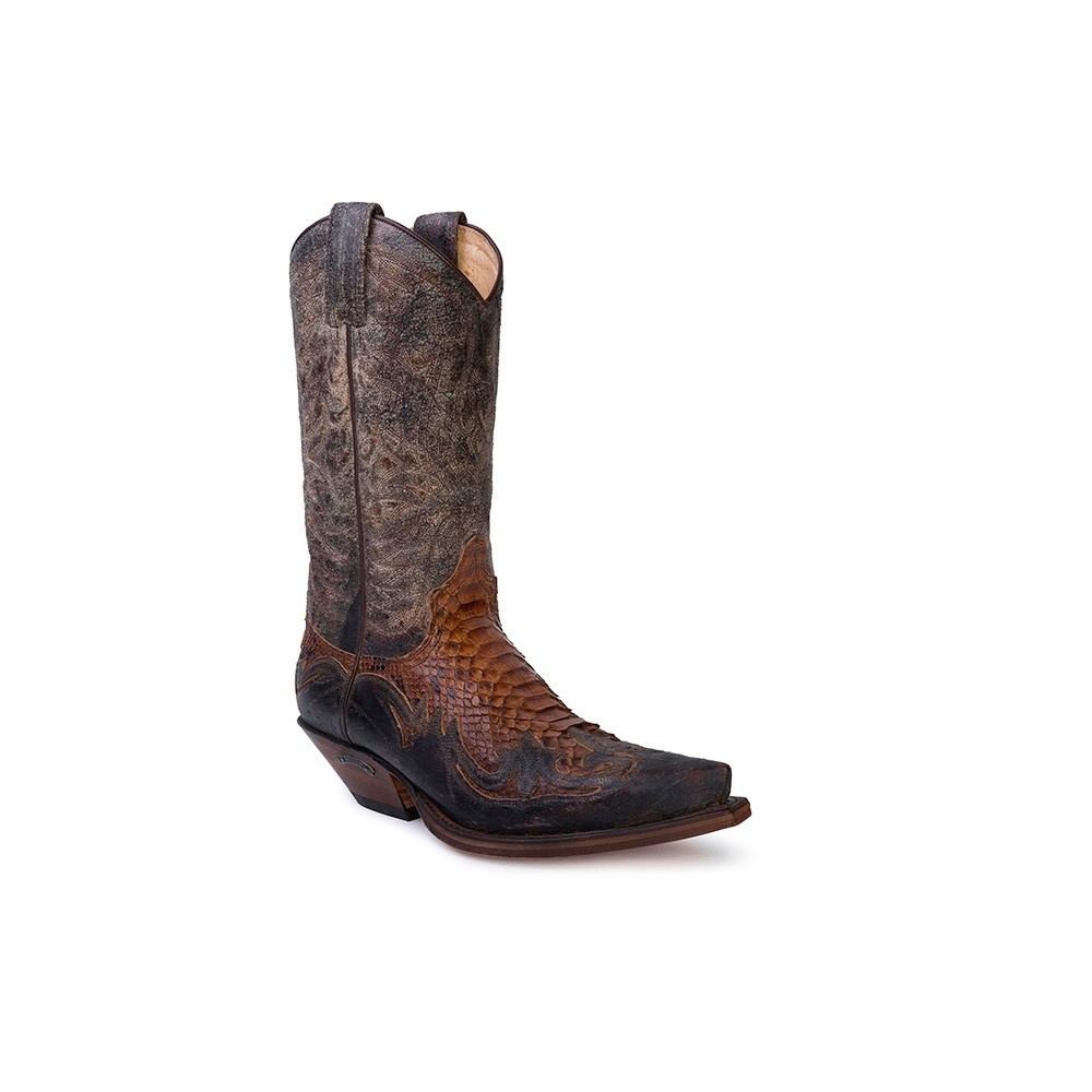 Compra en Noel Western Boots estas Botas Sendra Western para hombre de cuero marrón modelo 3241 con envíos gratis a la península clave 52740 -