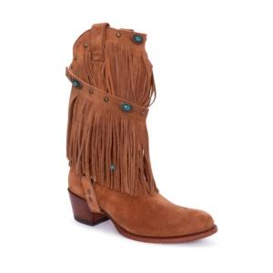 Compra en Noel Western Boots estas Botas Sendra moda para mujer en serraje marron con arnés y flecos modelo 10490 con envíos gratis a la península clave 52903