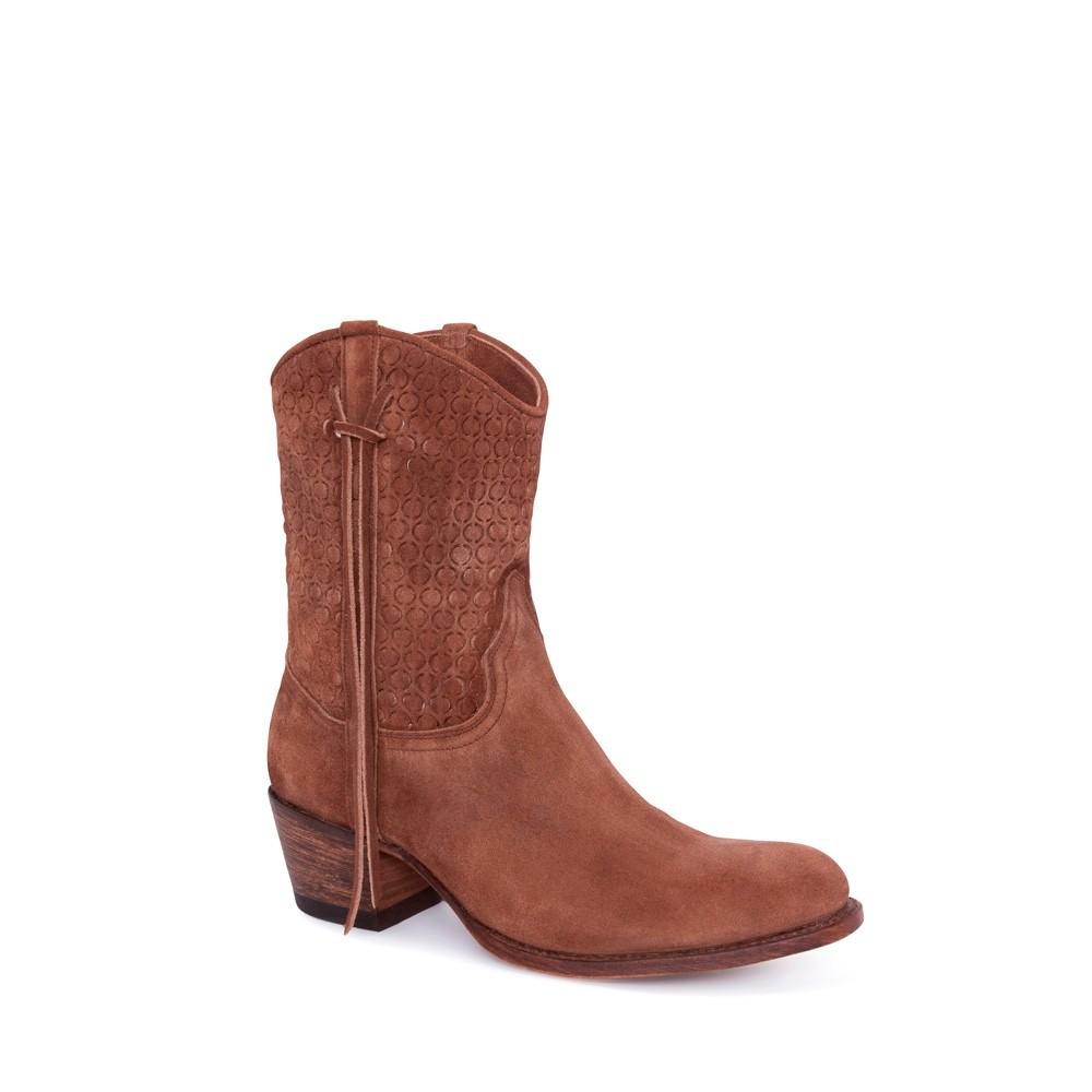 Compra en Noel Western Boots estos Botines Sendra moda para mujer de serraje marrón con arnés modelo 12502 con envíos gratis a la península clave 52913 -