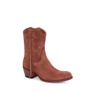 Compra en Noel Western Boots estos Botines Sendra moda para mujer de serraje marrón con arnés modelo 12502 con envíos gratis a la península clave 52913