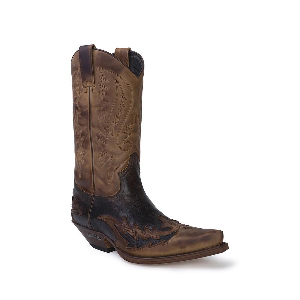 Compra en Noel Western Boots estas Botas Sendra Western para hombre de cuero marrón modelo 13871 con envíos gratis a la península clave 53021 -