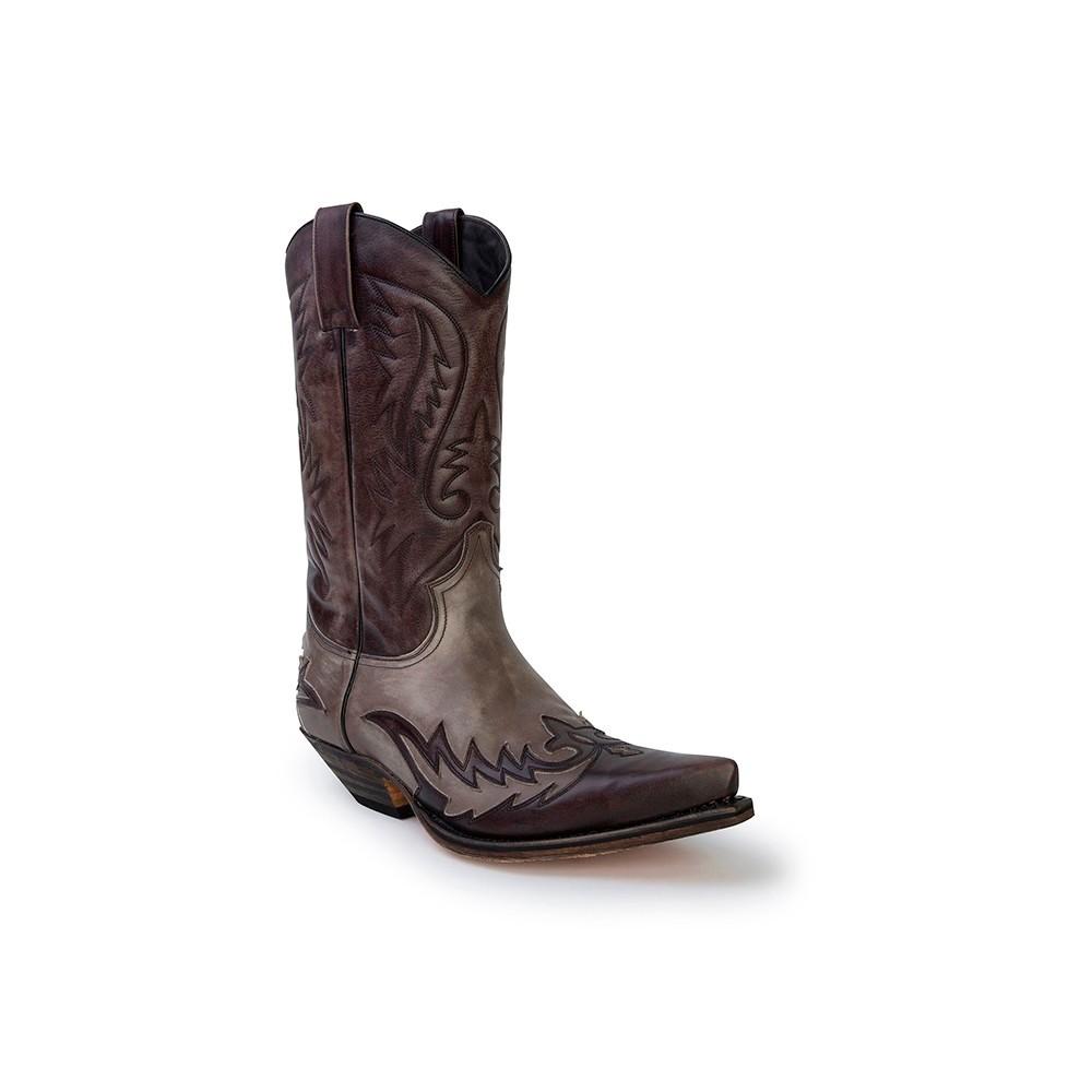 Compra en Noel Western Boots estas Botas Sendra Western para hombre de cuero gris antracita modelo 13871 con envíos gratis a la península clave 53024 -