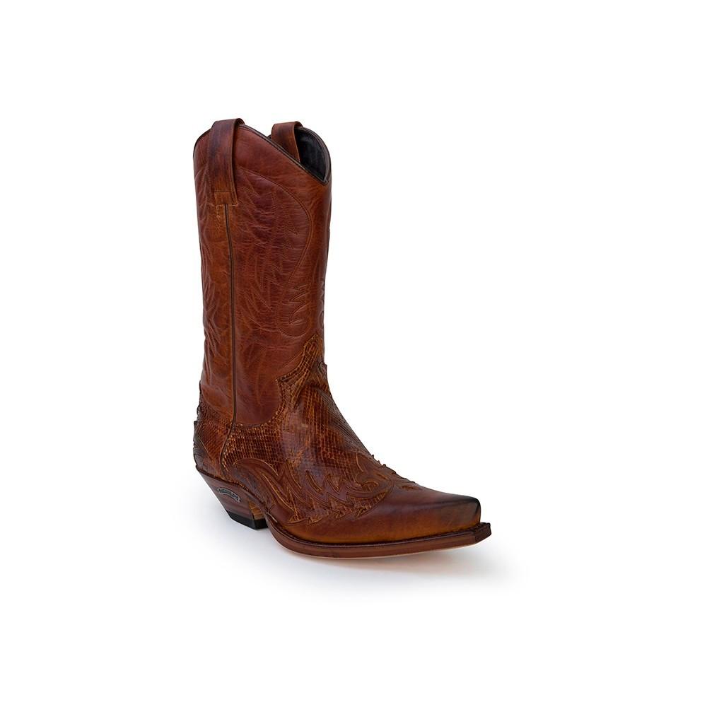 Compra en Noel Western Boots estas Botas Sendra Western para hombre de piel de vacuno aspecto reptil marrón modelo 13871 con envíos gratis a la península clave 53027 -