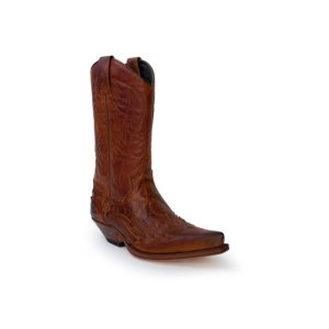 Compra en Noel Western Boots estas Botas Sendra Western para hombre de piel de vacuno aspecto reptil marrón modelo 13871 con envíos gratis a la península clave 53027