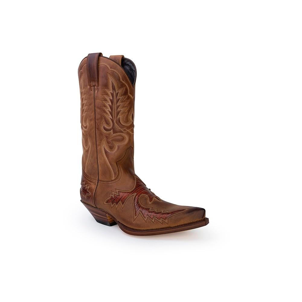 Compra en Noel Western Boots estas Botas Sendra Western para hombre de cuero camel modelo 6821 con envíos gratis a la península clave 53031 -