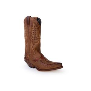Compra en Noel Western Boots estas Botas Sendra Western para hombre de cuero camel modelo 6821 con envíos gratis a la península clave 53031