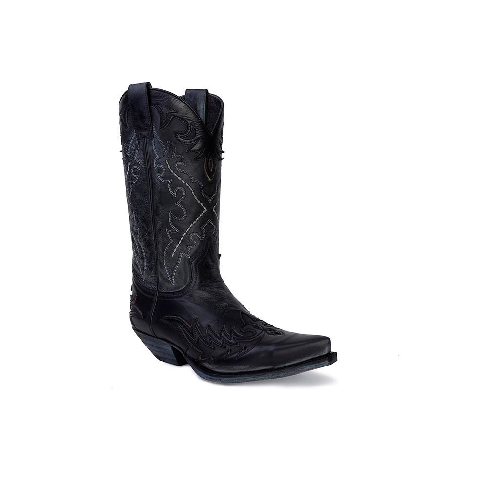 Compra en Noel Western Boots estas Botas Sendra Western para hombre de cuero negro modelo 9669 con envíos gratis a la península clave 53034 -