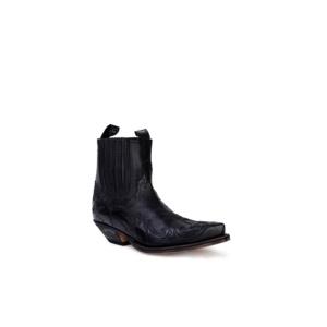 Compra en Noel Western Boots estos Botines Sendra Western para hombre en piel de vacuno con aspecto reptil negro modelo 4660 con envíos gratis a la península clave 53039