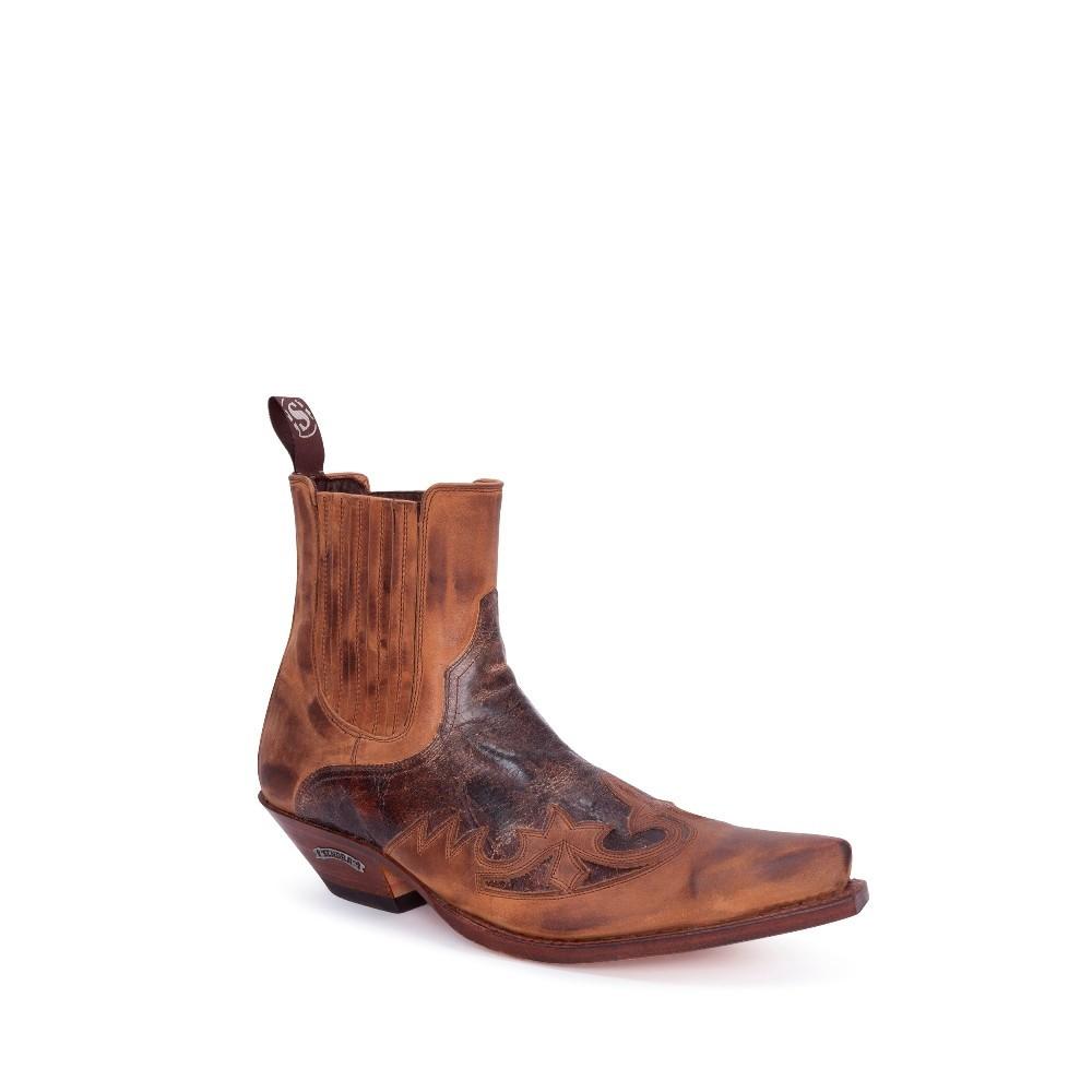 Compra en Noel Western Boots estos Botines Sendra Western para hombre de cuero tonos marrones modelo 9396 con envíos gratis a la península clave 53047 -