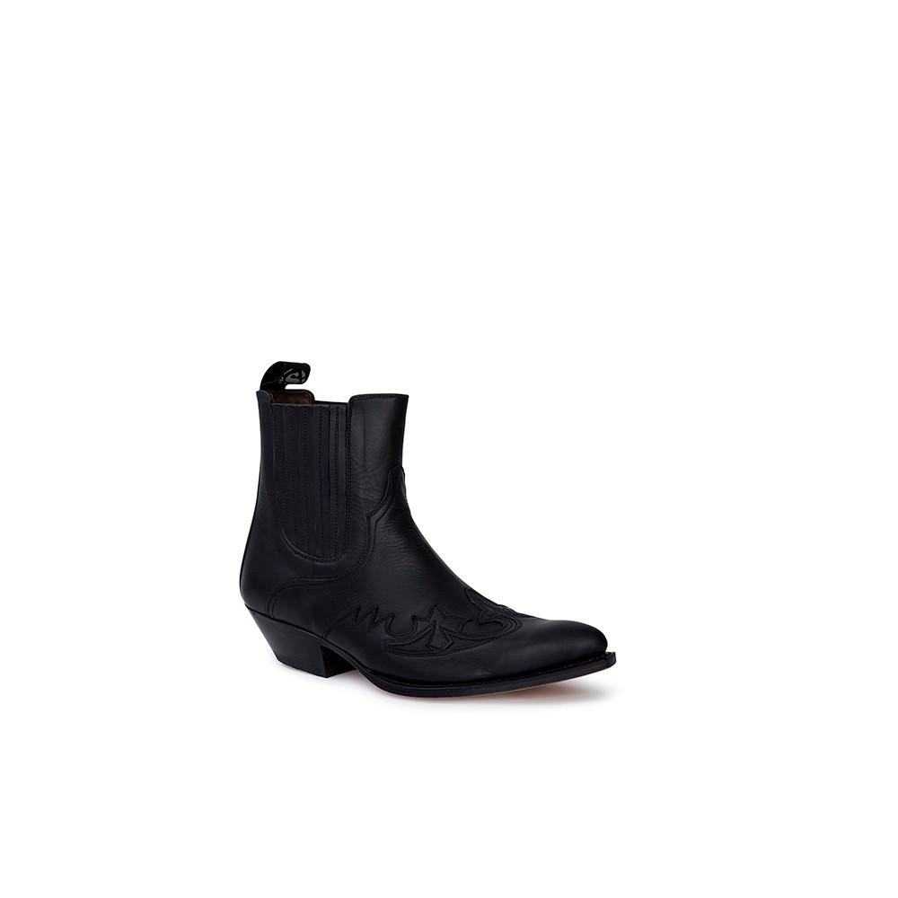 Compra en Noel Western Boots estos Botines Sendra Western para hombre de cuero negro modelo 9396 con envíos gratis a la península clave 53049 -