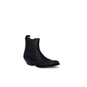 Compra en Noel Western Boots estos Botines Sendra Western para hombre de cuero negro modelo 9396 con envíos gratis a la península clave 53049