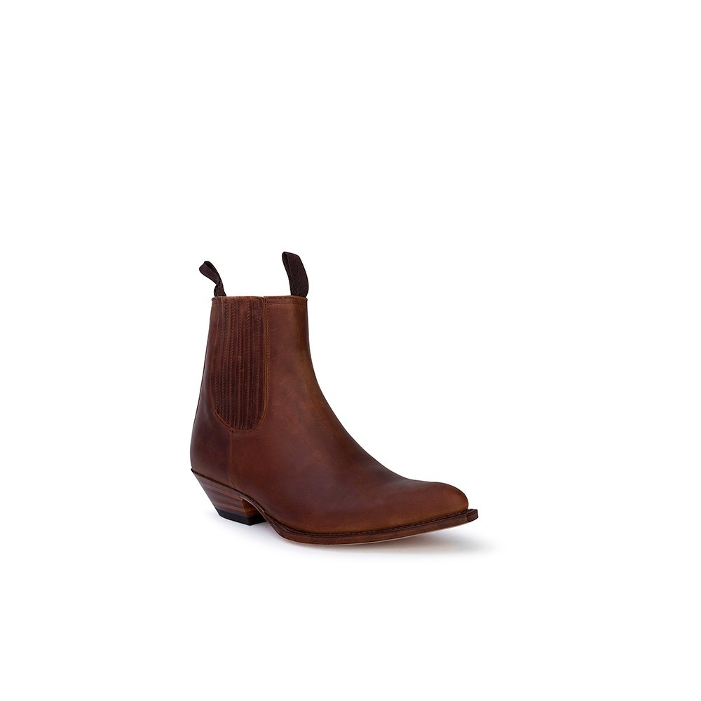 Compra en Noel Western Boots estos Botines Sendra Western para hombre de cuero camel modelo 1692 con envíos gratis a la península clave 53050 -