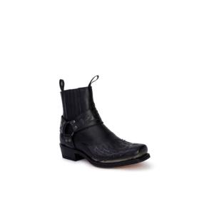 Compra en Noel Western Boots estos Botines Sendra Western para hombre de cuero negro con arnés modelo 13887 con envíos gratis a la península clave 53055