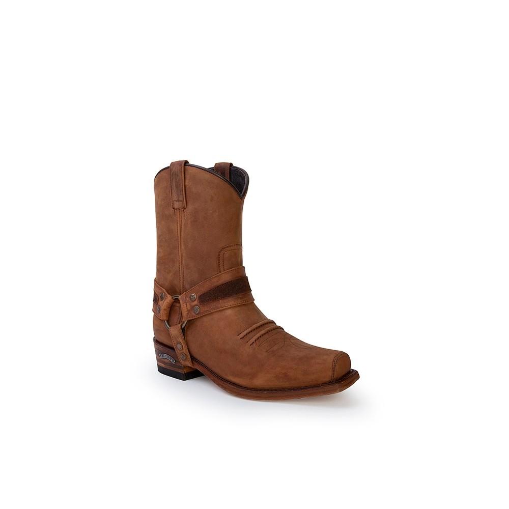 Compra en Noel Western Boots estas Botas Sendra Western para hombre de cuero marrón con arnés modelo 13872 con envíos gratis a la península clave 53056 -