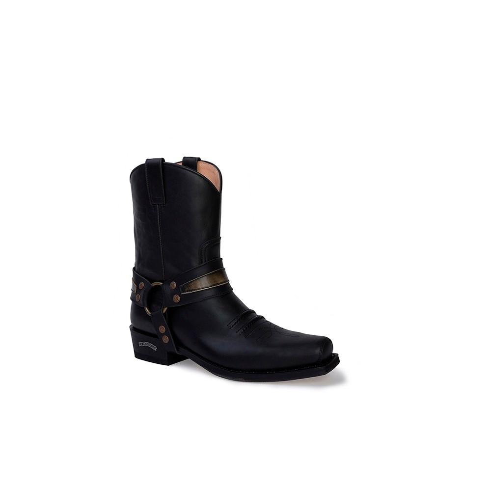 Compra en Noel Western Boots estas Botas Sendra Western para hombre de cuero negro con arnés modelo 13872 con envíos gratis a la península clave 53057 -