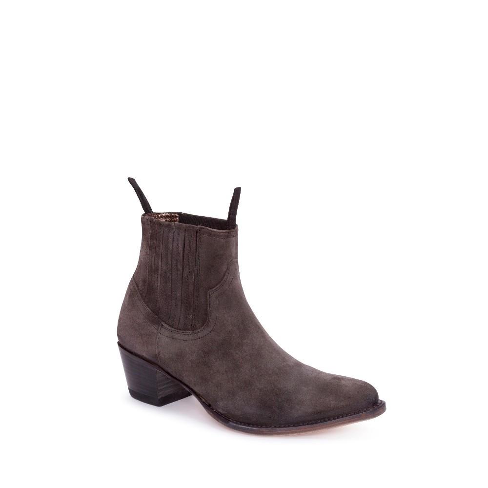 Compra en Noel Western Boots estos Botines Sendra moda para Mujer en ante color gris antracita modelo 12380 con envíos gratis a península clave 53058 -