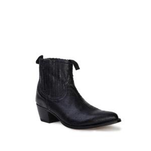 Compra en Noel Western Boots estos Botines Sendra Moda para mujer de cuero negro modelo 12380 con envíos gratis a península clave 53059