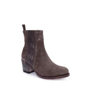 Compra en Noel Western Boots estos Botines Sendra moda para mujer en serraje gris antracita con estrellas modelo 13849 con envíos gratis a la península clave 53060