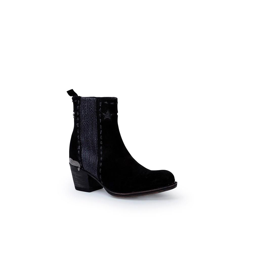 Compra en Noel Western Boots estos Botines Sendra Campera para mujer de serraje negro modelo 13849 con envíos gratis a península clave 53062 -