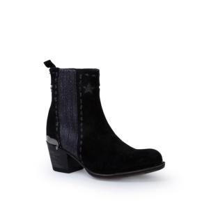 Compra en Noel Western Boots estos Botines Sendra Campera para mujer de serraje negro modelo 13849 con envíos gratis a península clave 53062