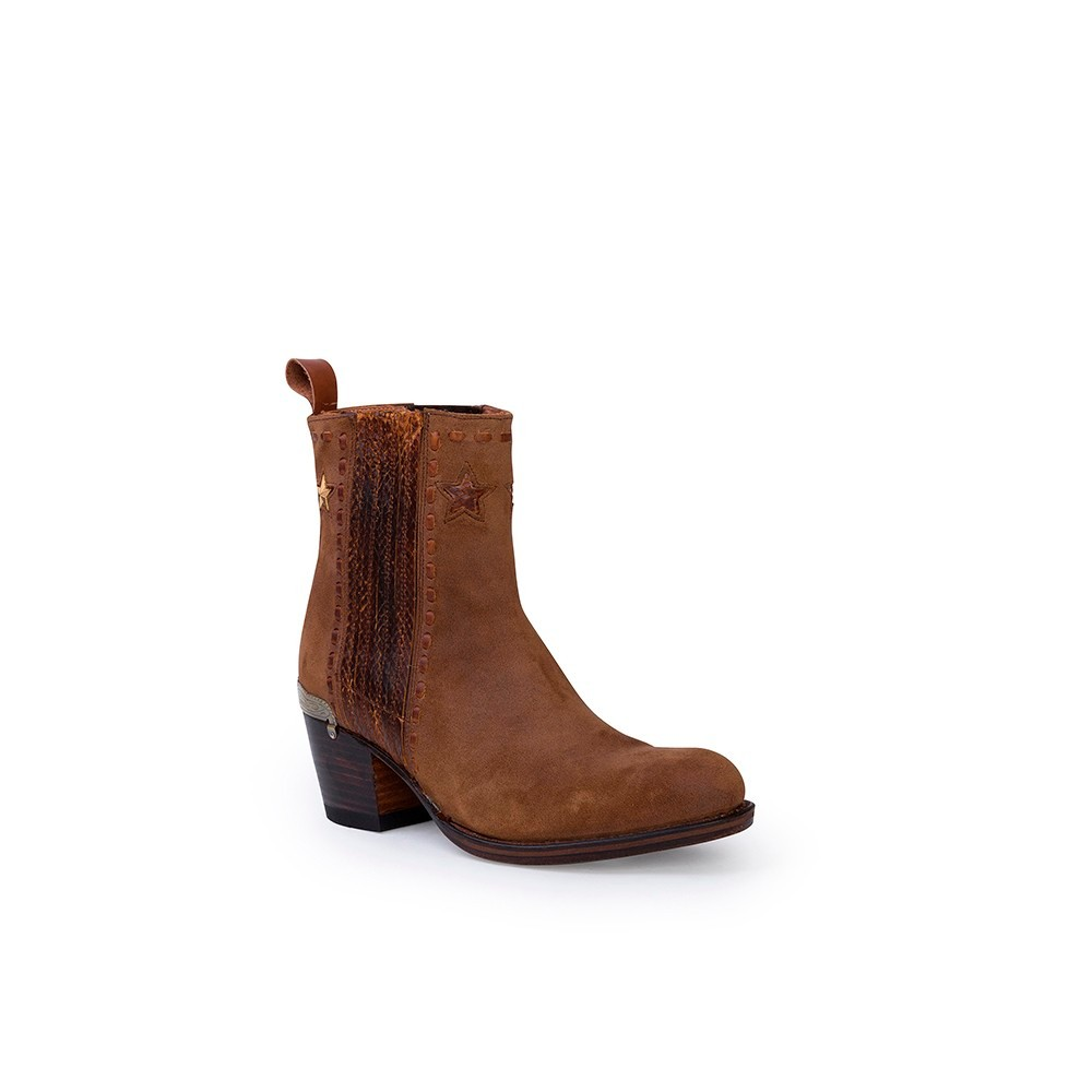 Compra en Noel Western Boots estos Botines Sendra Moda para mujer de serraje marrón modelo 13849 con envíos gratis a península clave 53062 -