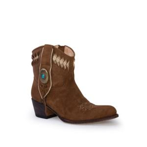 Compra en Noel Western Boots estos Botines Sendra Western para mujer de serraje camel modelo 13387 con envíos gratis a península clave 53065