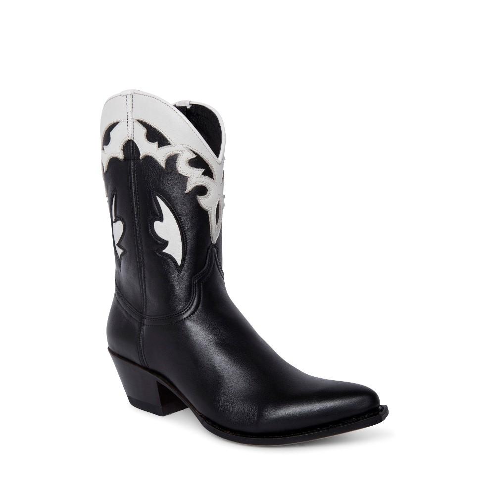 Compra en Noel Western Boots estos botines Sendra Western para mujer en cuero negro y blanco horma Lia con envíos gratis a península clave 5308 -
