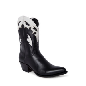 Compra en Noel Western Boots estos botines Sendra Western para mujer en cuero negro y blanco horma Lia con envíos gratis a península clave 5308