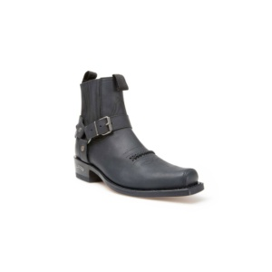 Compra en Noel Western Boots estos Botines Sendra Biker para hombre de cuero negro modelo 6445 con envíos gratis a la península clave 54573
