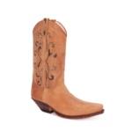Compra en Noel Western Boots estas Botas Sendra Western para mujer de cuero beige con adornos serpiente con envíos gratis a la península clave 54785 - __[GALLERYITEM]__