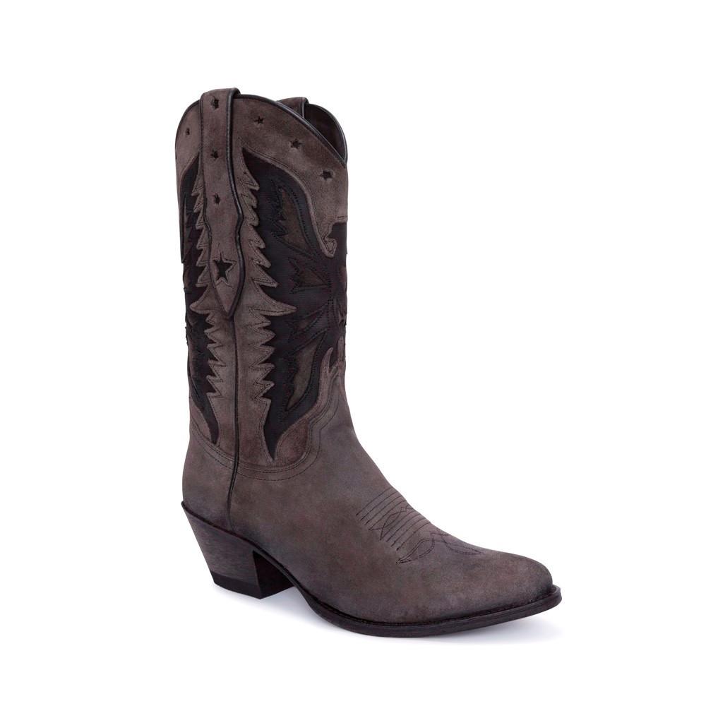 Compra en Noel Western Boots estas Botas Sendra Moda para mujer de serraje gris y negro con águila 5514 con envíos gratis a la península clave 54885 -