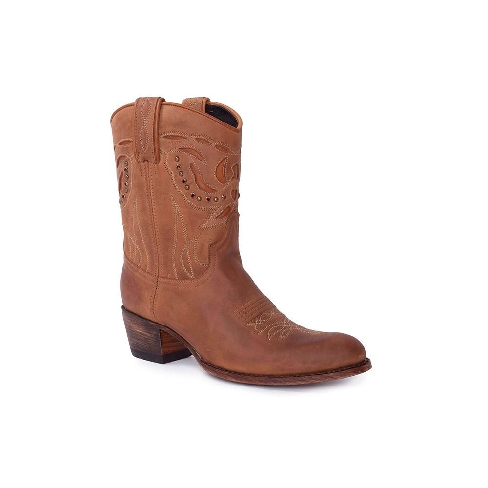 Compra en Noel Western Boots estos Botines Sendra Western para mujer de cuero marrón 10273 con envíos gratis a la península clave 54886 -