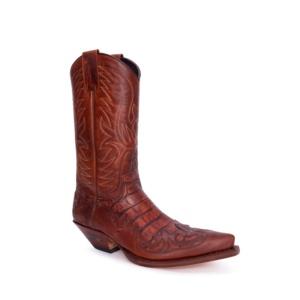 Compra en Noel Western Boots estas Botas Sendra Western para Hombre en cuero marron con aspecto reptil modelo 3241 con envíos gratis a península clave 54895