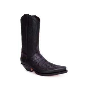 Compra en Noel Western Boots estas Botas Sendra Western para Hombre en cuero negro con aspecto reptil modelo 3241 con envíos gratis a península clave 54893