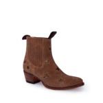 Compra en Noel Western Boots estos Botines Sendra moda para mujer en serraje marrón con estrellas bronce modelo 13698 con envíos gratis a la península clave 54898 - __[GALLERYITEM]__