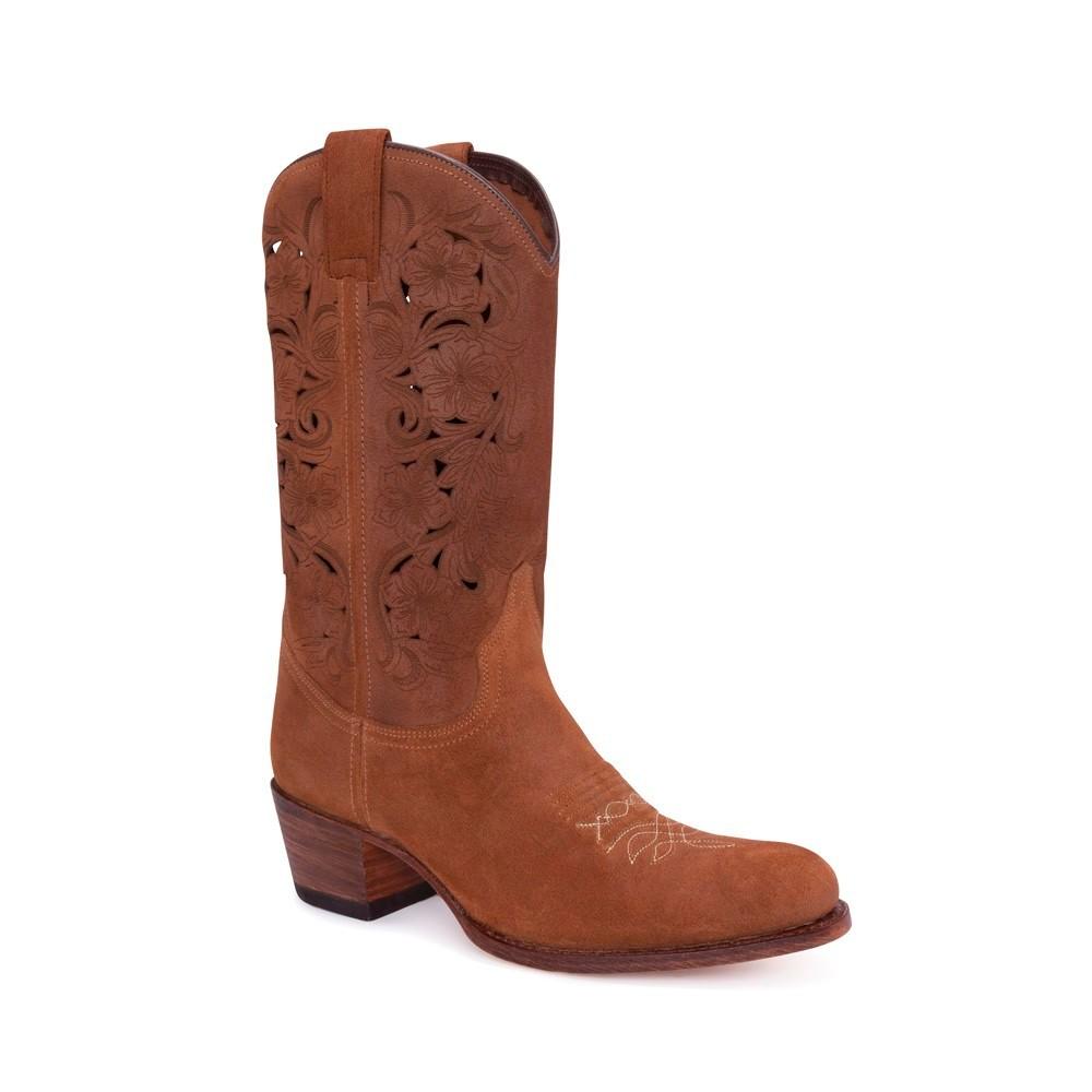 Compra en Noel Western Boots estas Botas Sendra moda para mujer en serraje marron con caña perforada modelo 14283 con envíos gratis a la península clave 54900 -