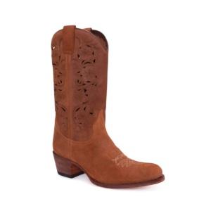 Compra en Noel Western Boots estas Botas Sendra moda para mujer en serraje marron con caña perforada modelo 14283 con envíos gratis a la península clave 54900