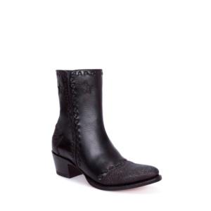 Compra en Noel Western Boots estos Botines Sendra moda para mujer en piel negro con decoraciones con aspecto de piel de mantarraya modelo 13088 con envíos gratis a la península clave 54909