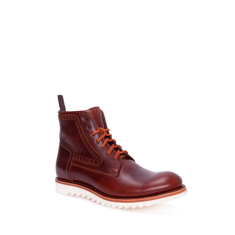 Compra en Noel Western Boots estos Botines Sendra Moda para hombre de cuero marrón cordones suela de goma modelo 14472 con envíos gratis a la península clave 54914 -