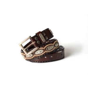 Compra en Noel Western Boots este cinturón Sendra Western de cuero y metal plata y marrón modelo 7606 con envíos gratis a la península 54930