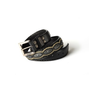 Compra en Noel Western Boots este cinturón Sendra Western de cuero y metal plata y negro modelo 7606 con envíos gratis a la península 54952