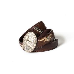 Compra en Noel Western Boots este cinturón Sendra Western de cuero y metal plata y marrón modelo 8322 con envíos gratis a la península 54970