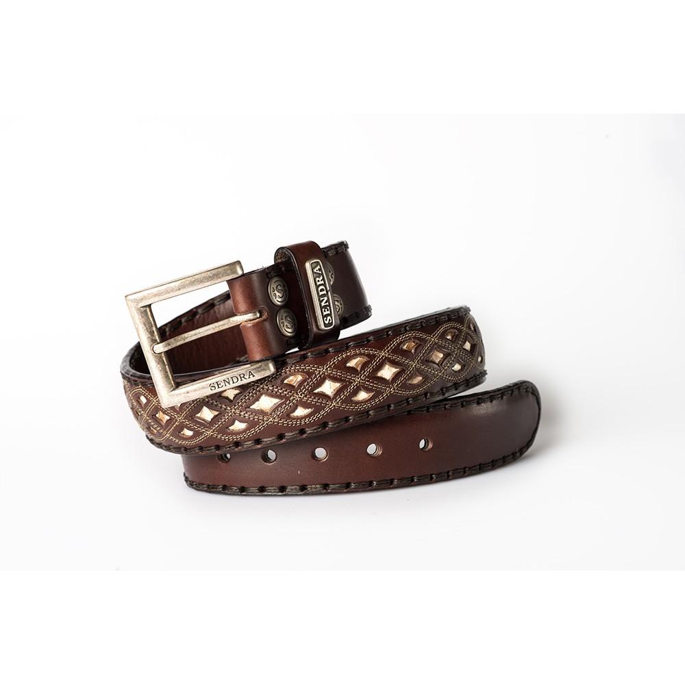 Compra en Noel Western Boots este Cinturón Sendra Western de cuero Marrón y piel serpiente modelo 8680 con envíos gratis a la península 55427 - __[GALLERYITEM]__