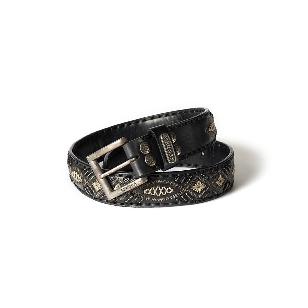 Compra en Noel Western Boots este Cinturón Sendra Western de cuero Negro y beige modelo 8566 con envíos gratis a la península 55429 - __[GALLERYITEM]__